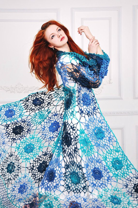 stunning floral crochet coat