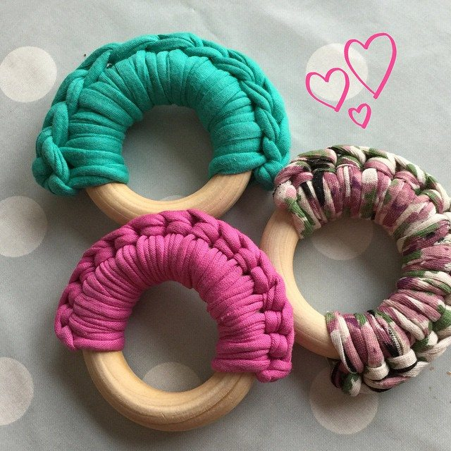 sweetwishboutique crochet teether rings