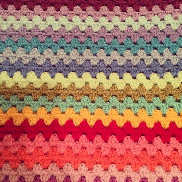 teaandcrafting crochet granny stripes