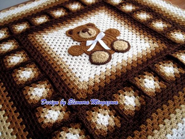 teddybeer gehaakte deken patroon