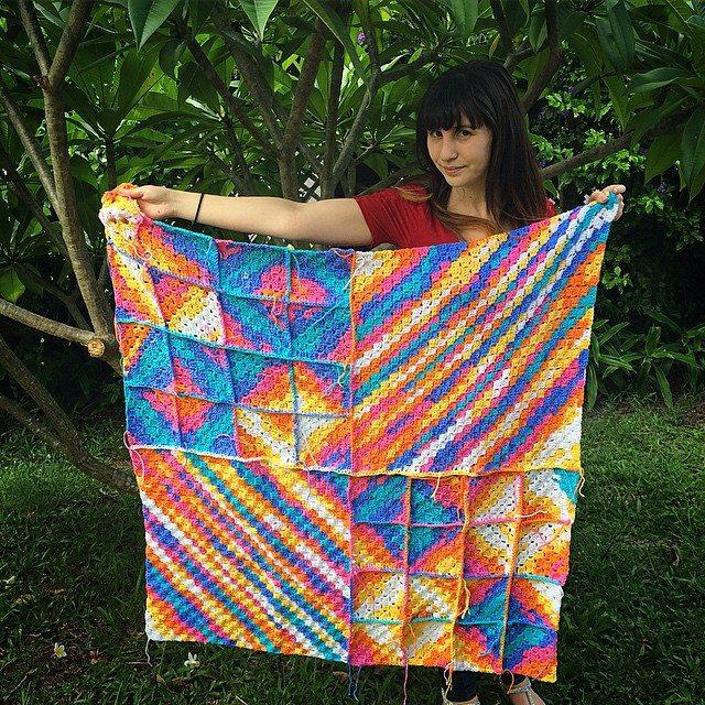 thatgirlwhocrochets crochet blanket