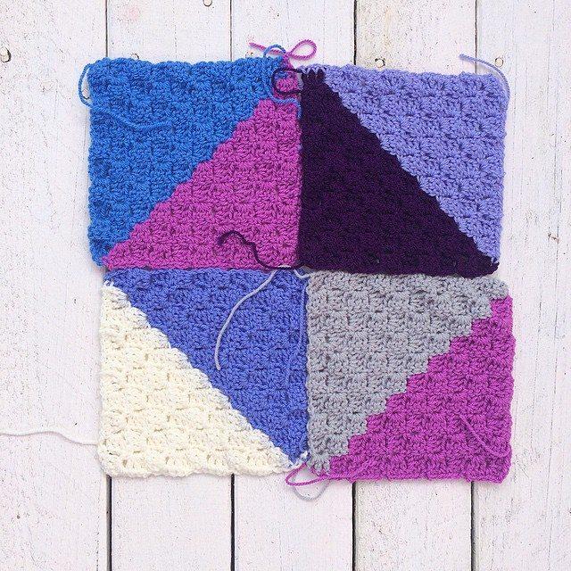 thatgirlwhocrochets crochet triangles