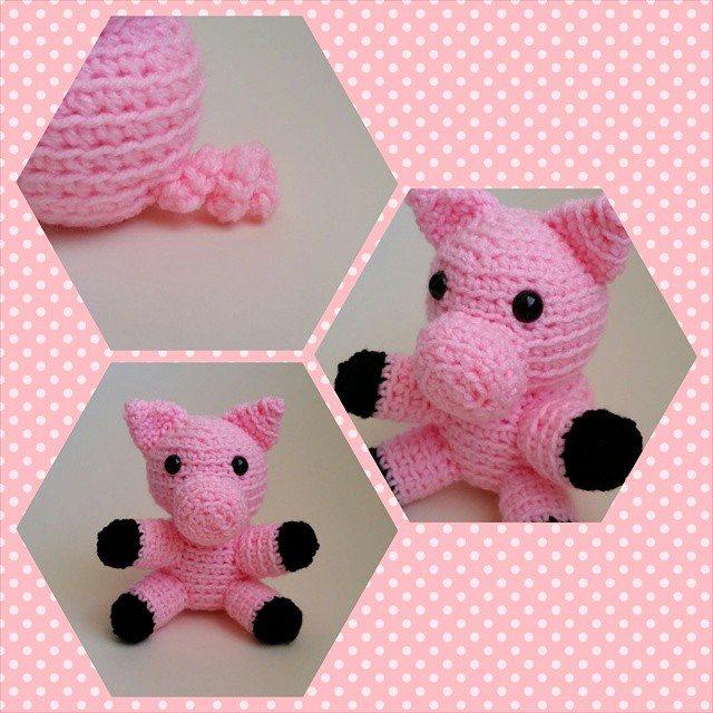 thegirllovesyarn crochet pig