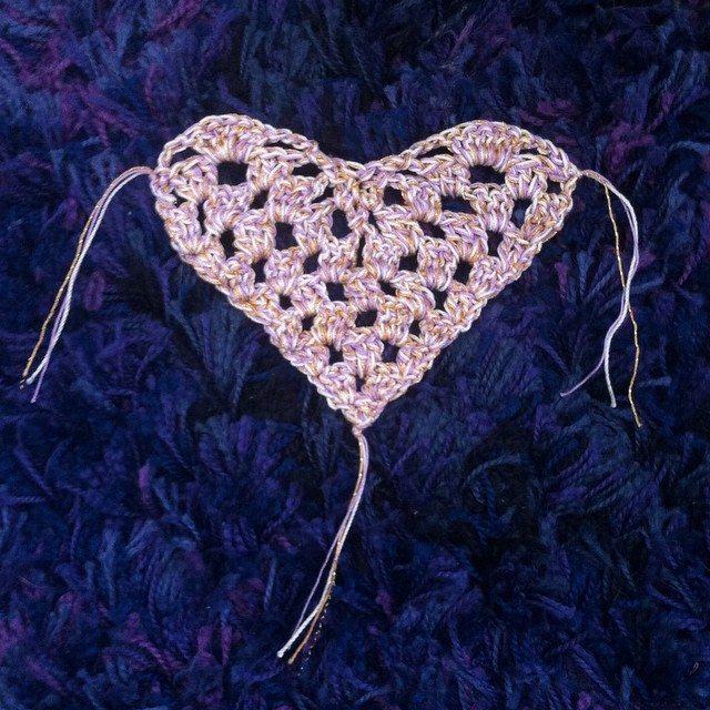 thread crochet heart