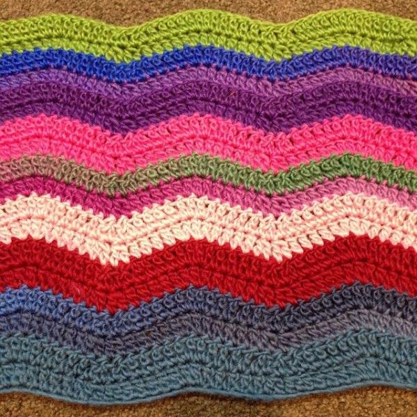 wendysquiltsandmore crochet chevron blanket