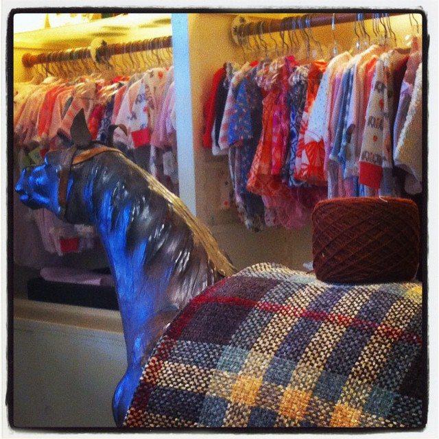 yarn in baby store