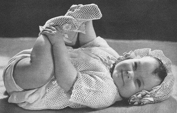1939 Iers Kant gehaakte babypatroon