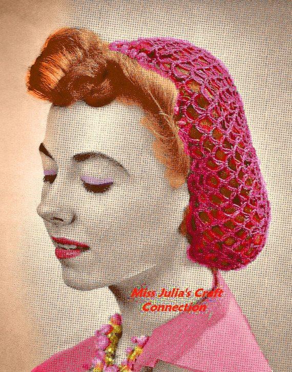1939 vintage crochet snood pattern