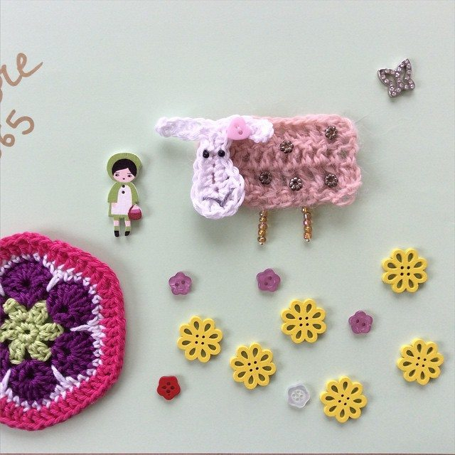 aglaelaser crochet sheep