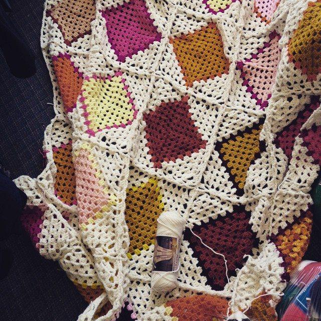 anastaciknits crochet granny square blanket