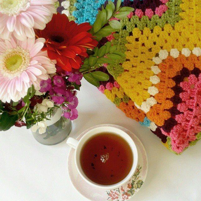 annesurr crochet retro blanket