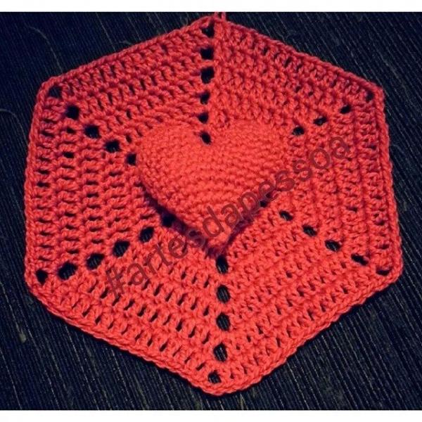 artesdapessoa crochet heart