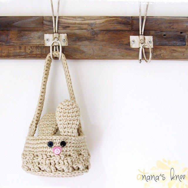 atnanasknee crochet bunny basket