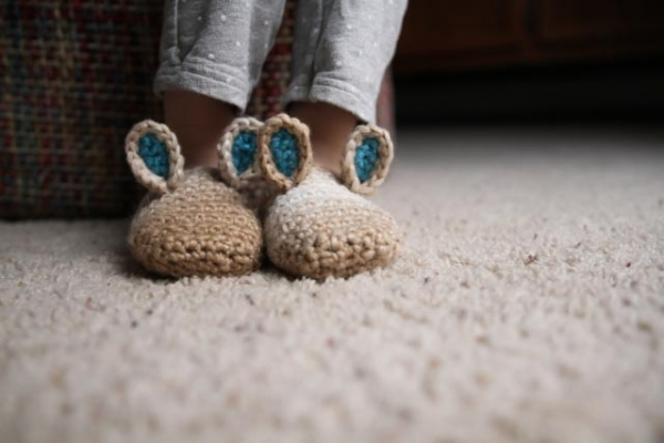 bunny slippers crochet pattern