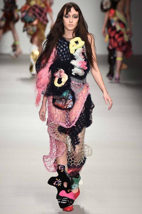 central saint martins crochet fashion
