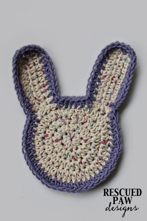 Haak konijn washandje pattern