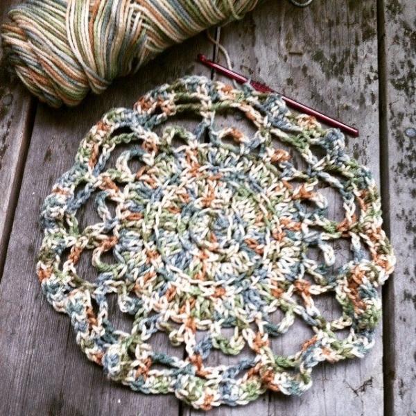 crochet doily ruffled