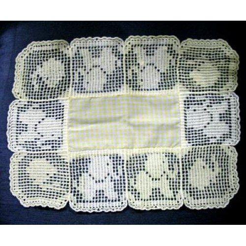Free Filet Crochet Elephant Pattern : 1939 Vintage Crochet