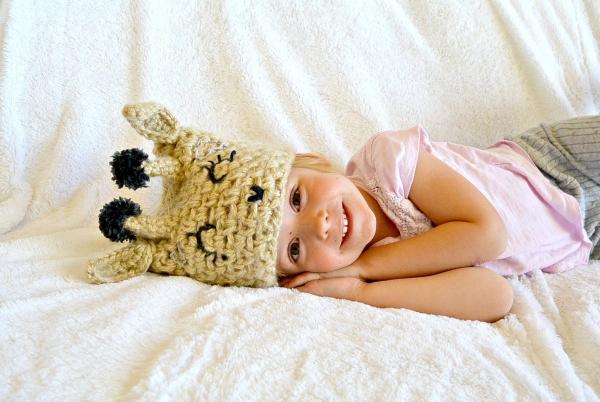 crochet giraffe hat