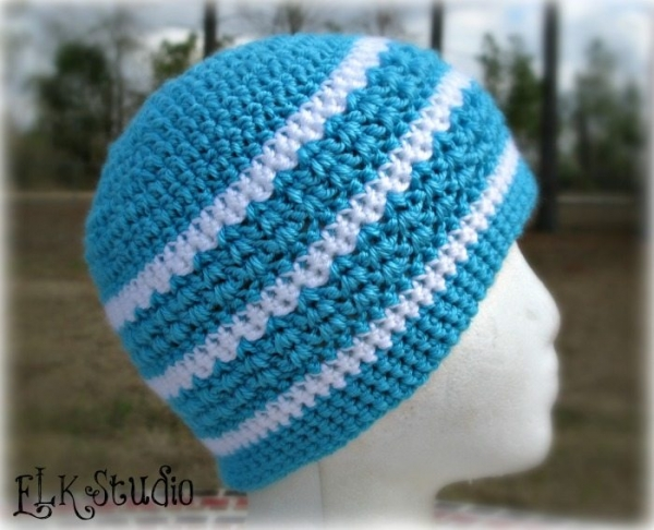 herringbone double crochet hat pattern