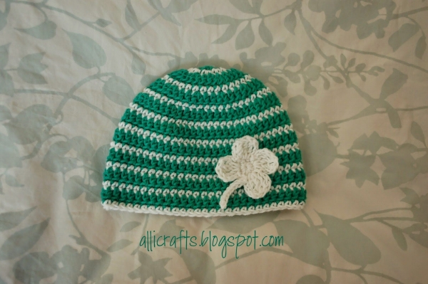 striped crochet baby hat free pattern