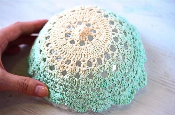 crochet lace bowls