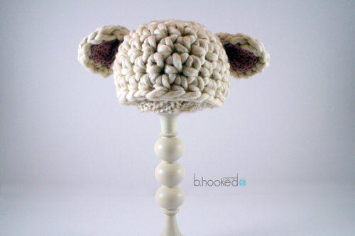 crochet baby lamb hat free pattern