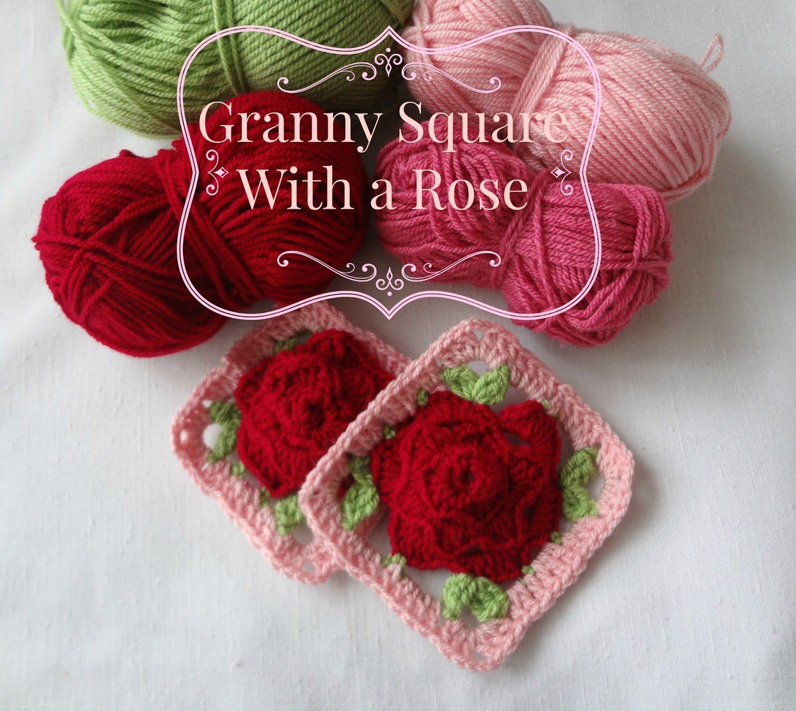 crochet rose square free pattern