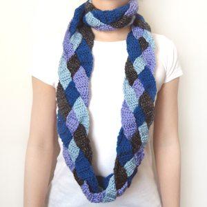 Gehaakte sjaal patroon