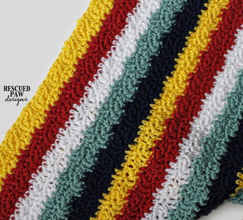 crochet striped blanket