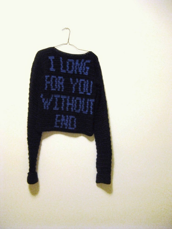 crochet sweater art