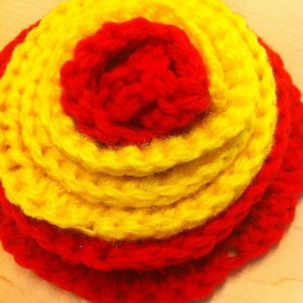 crochet wisteria flower