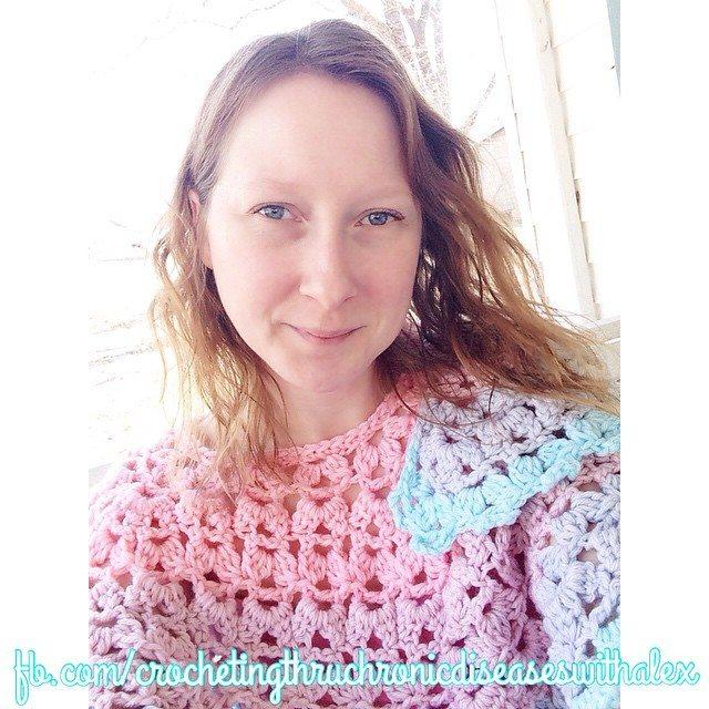 crochetingthruchronicdiseases crochet shawl