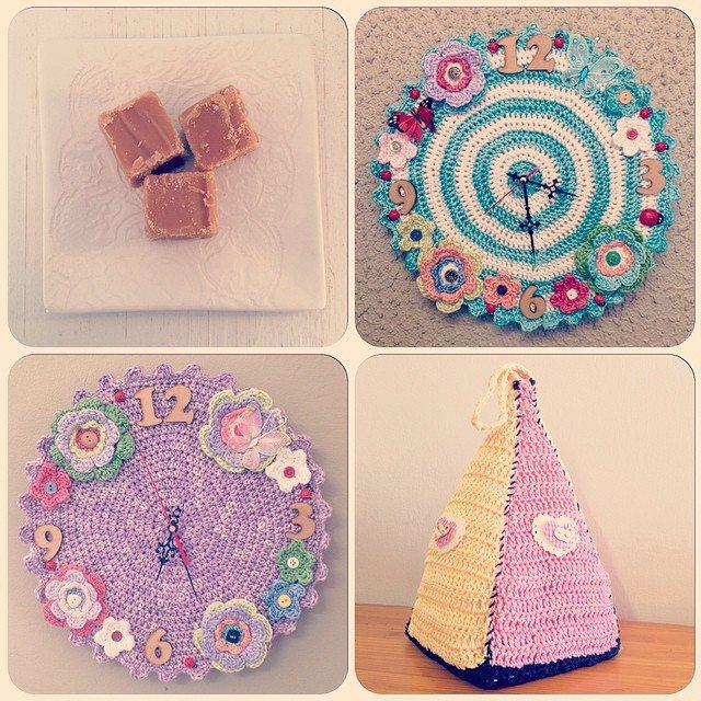 crochetinpaternoster crochet clocks at lys