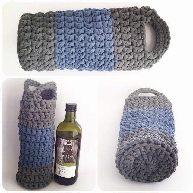 crochetinpaternoster crochet wine bottle cozy