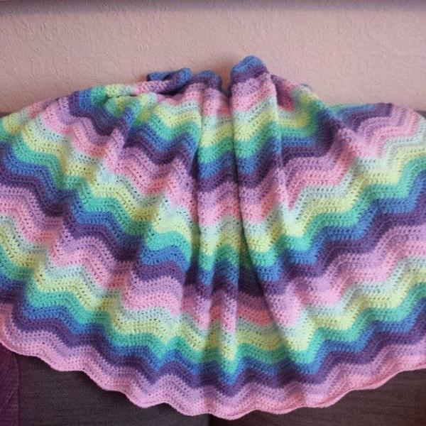 crochetsnuggles crochet ripple blanket