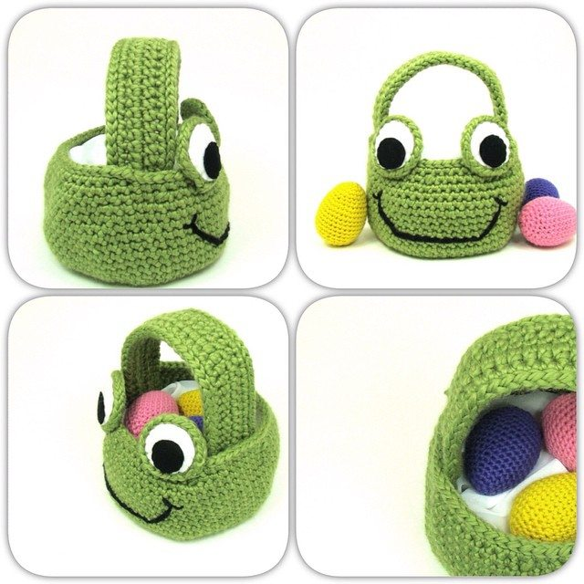 cuddlebugkids crochet egg basket