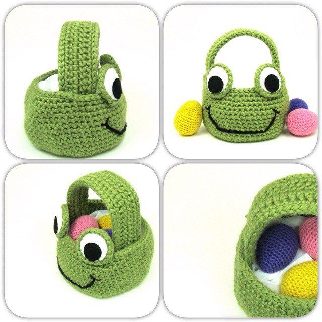 cuddlebugkids crochet egg basket