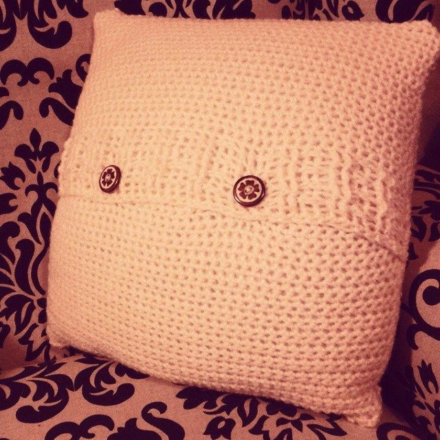 dojocrochet crochet pillow