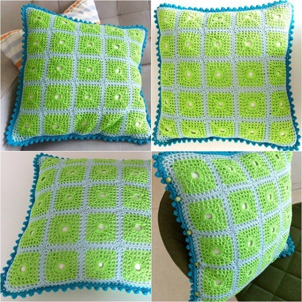 elisabethandree crochet cushion
