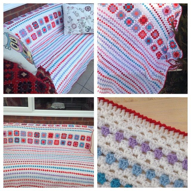 franloveswool crochet blanket granny