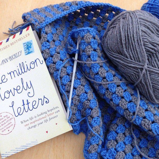 gooseberryfool crochet granny stripe blanket