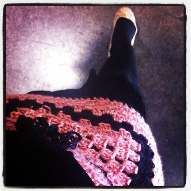 crochet granny square skirt
