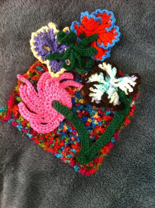 flower crochet art