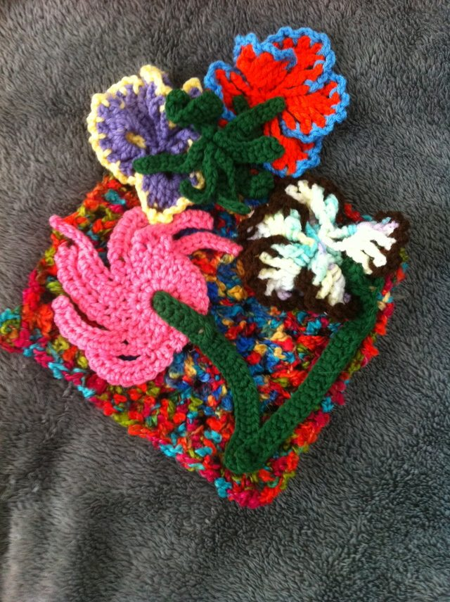 flower crochet art
