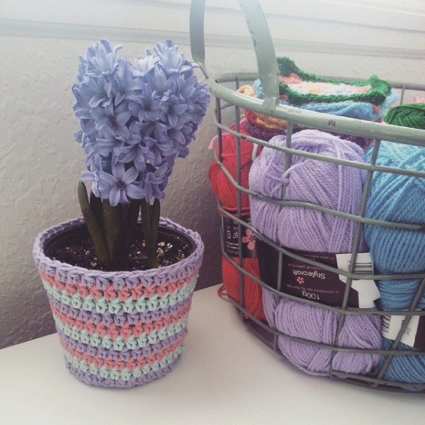 jenjendb crochet flower pot