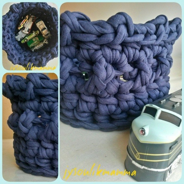 jysoulikmamma_brilliantmommy crcohet t-shirt yarn basket