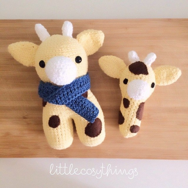littlecosythings crochet giraffes