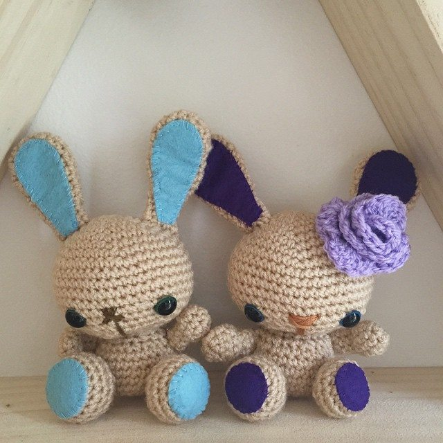 littlefoxcrochet crochet bunnies