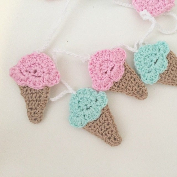 littlefoxcrochet crochet ice cream cones